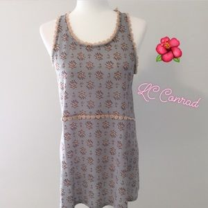 LC Lauren Conrad Floral Shabby Tunic Tank Top L 💕
